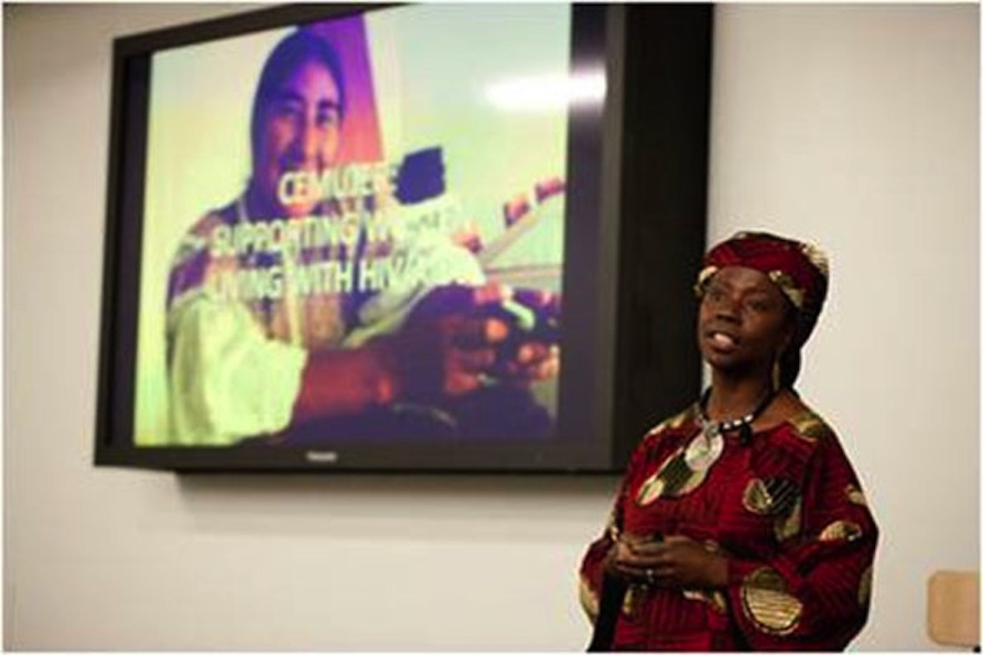 Dr. Musimbi Kanyoro from the Global Fund for Women (last year's Community Vote winner) presenting to employees in San Francisco.