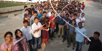 LS&Co. India employees gather to mark a recent World AIDS Day.