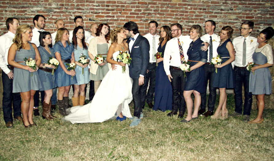 The Groom Wore Blue Jeans