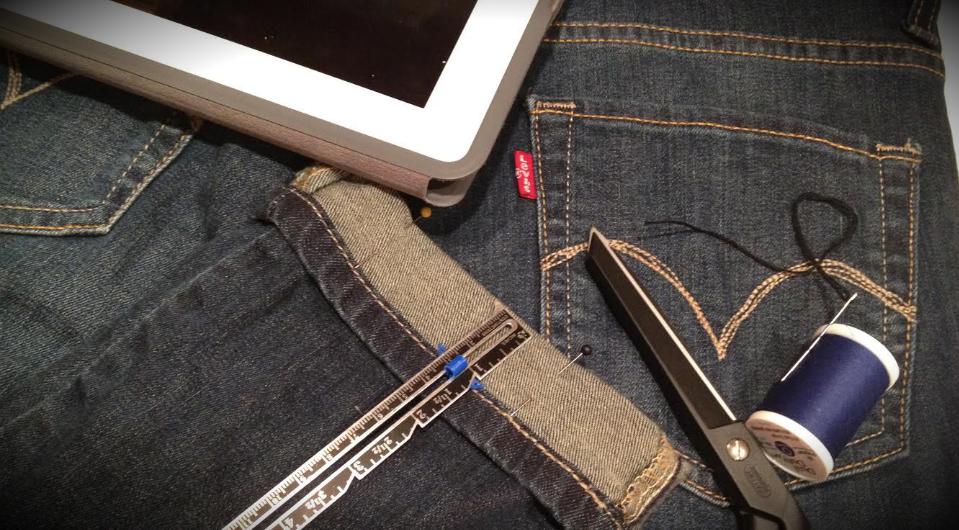 Levi's with repair kit