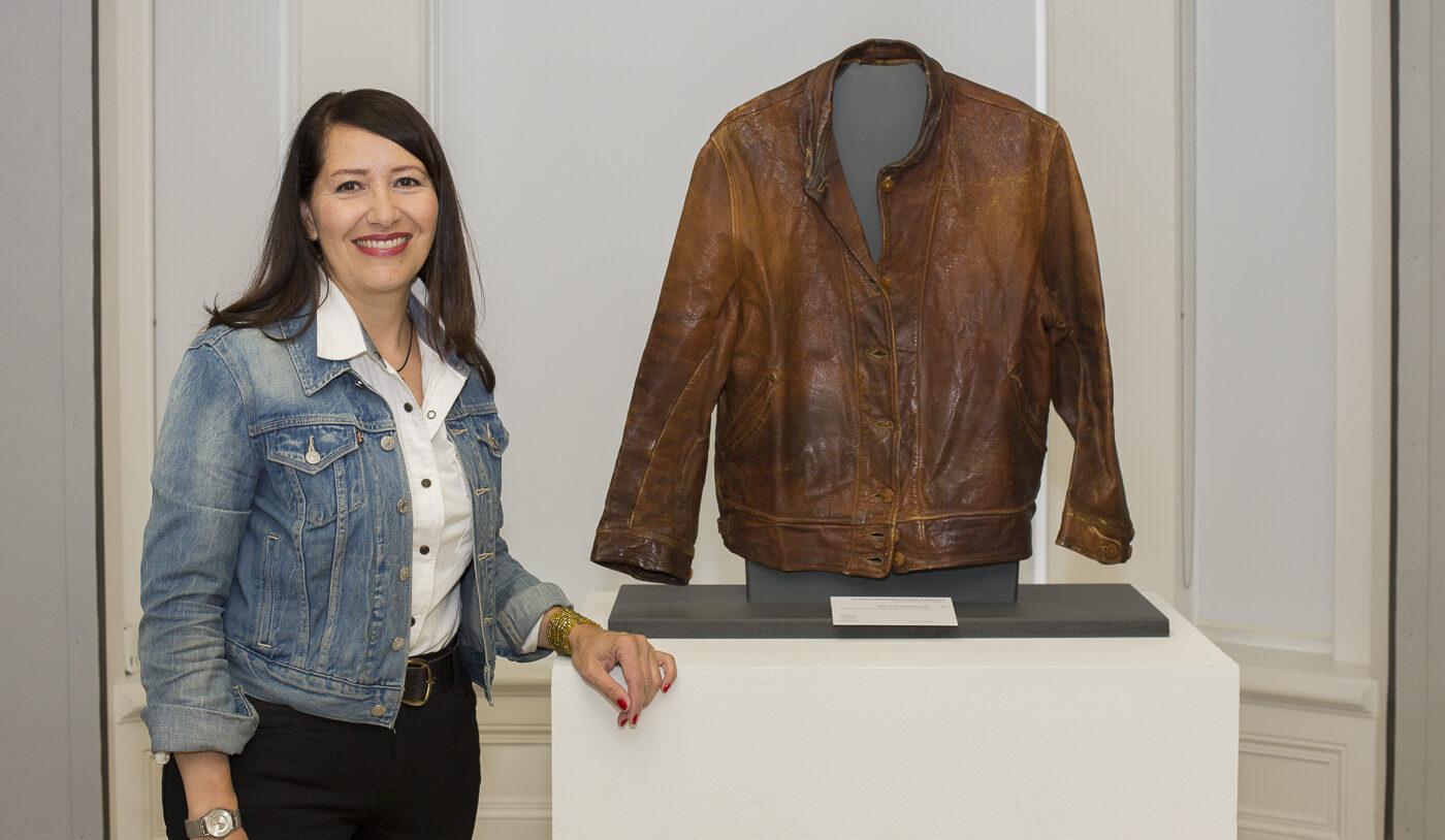 Albert Einstein Levi leather jacket