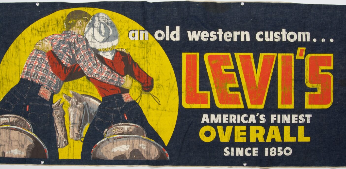 Levi's Overall Western ad, 1940s