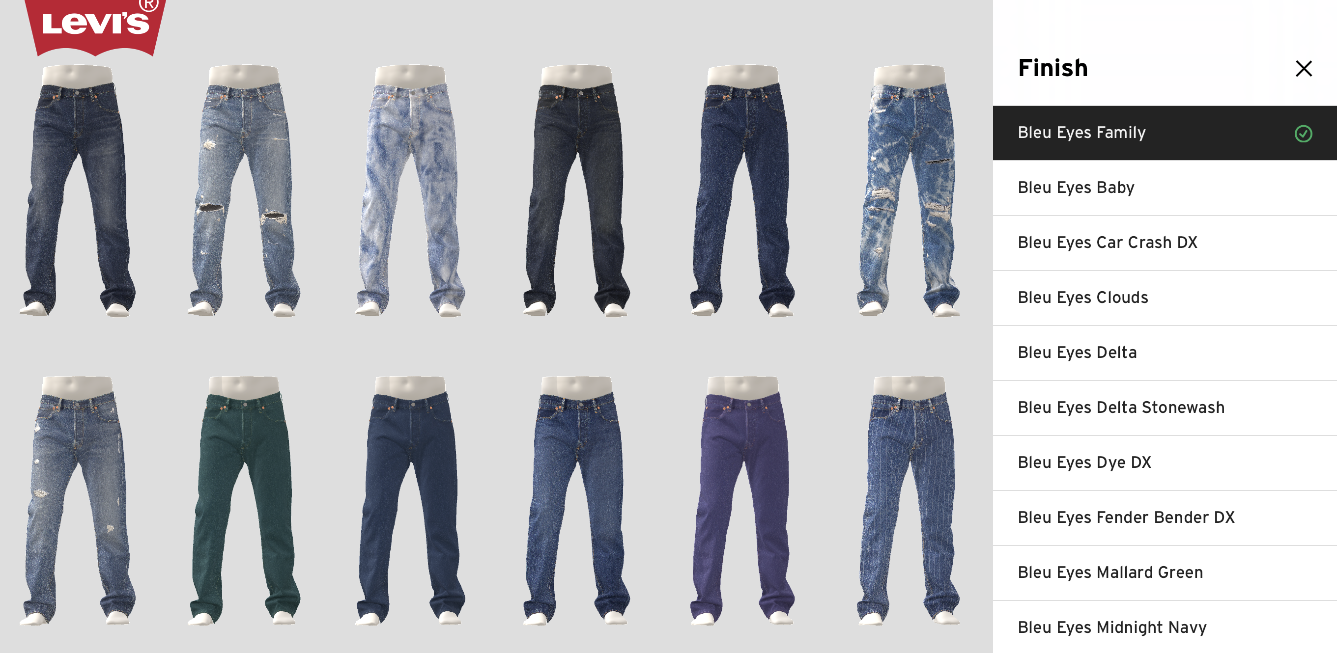 Levi's 3D digital rendering