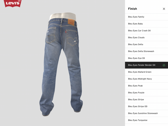 Levi's 3D digital renderings