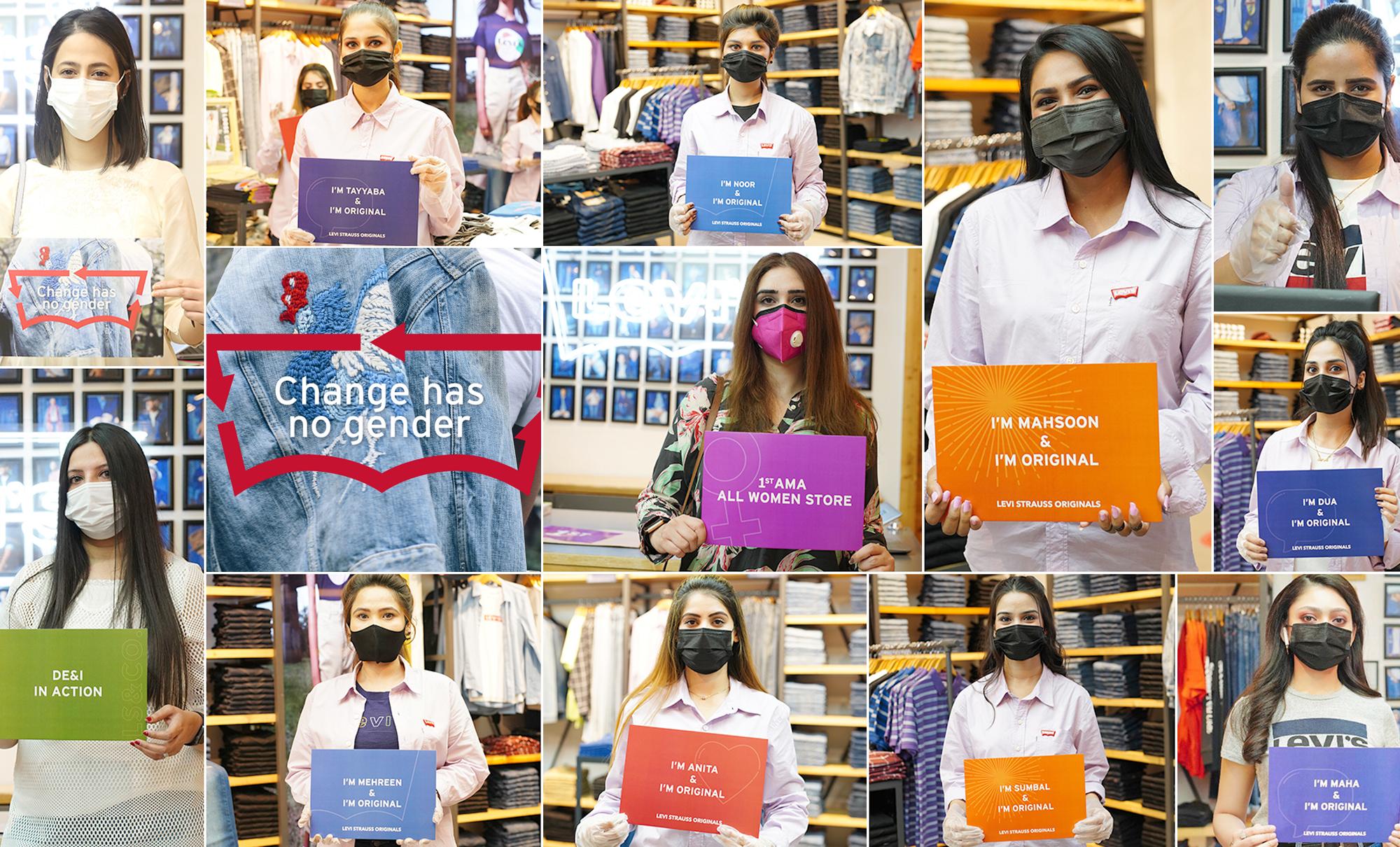 women staffed Pakistan store